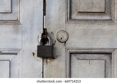 White door bolt
