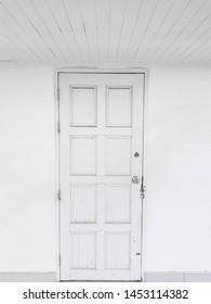 White door on the deck.