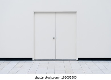 White Doors in of a storage room