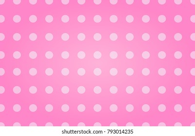 White dots pattern on abstract pink background. Valentines day illustration design.