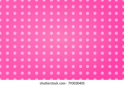 White dots pattern on abstract pink background. Valentines day design illustration.