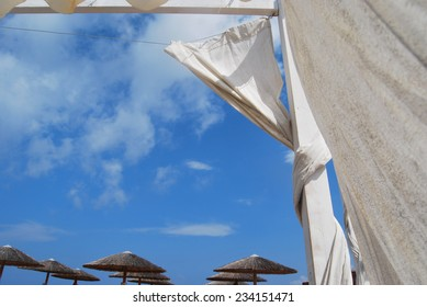 White drapes at the beach