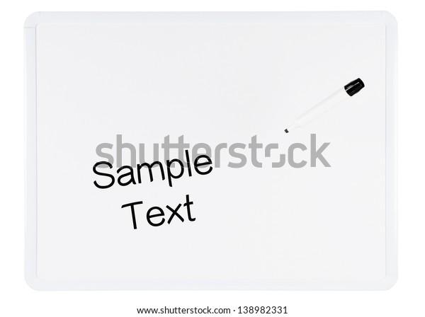 White Dry Erase Board On White Stock Photo Edit Now 138982331