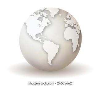 White Earth Globe
