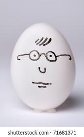 White egg in glasses