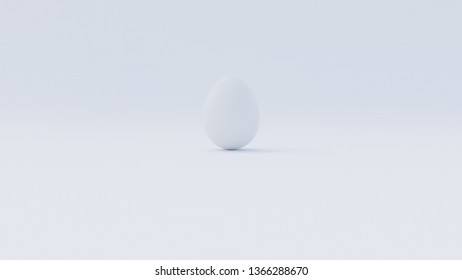 White Egg hidden on white background