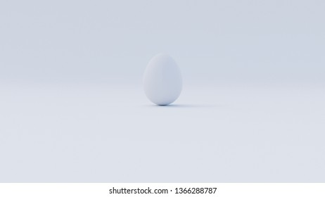 White Egg hidden on white background (more contrast version)