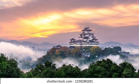 White Egret Castle is nickname of Himeji castle, the great castle in Hyogo, Japan.