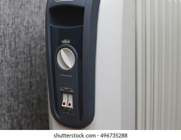 white electric  heater with control panel