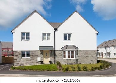 White elegant english house