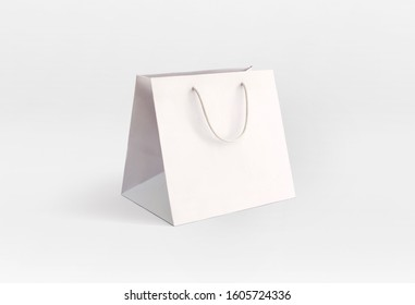 white elegant paper bag for store