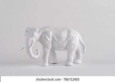 white elephant on white background perfect for white elephant sale  lots of negative space for type