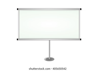 White, empty board isolated on white background.