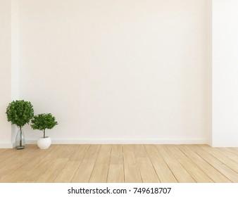 White empty scandinavian room interior. Nordic interior. 3d illustration
