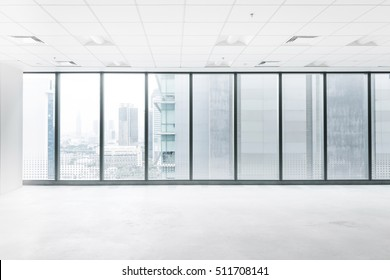 White empty space with big windows