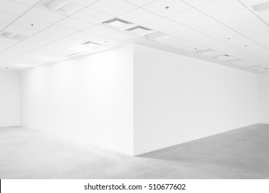 White empty space with ceiling and floor, loft style