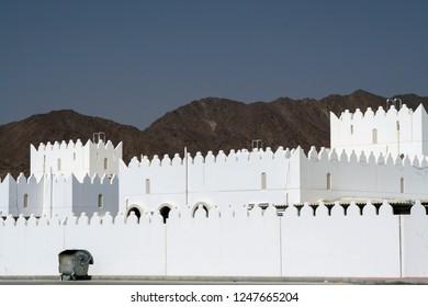 white empty village in Oman