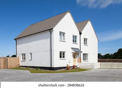 White english detached house