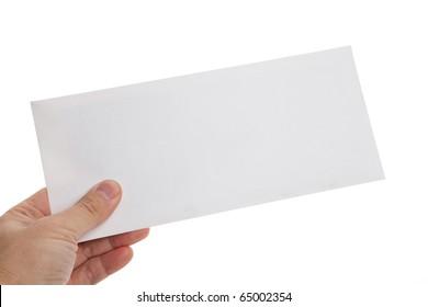 White Envelope with white background