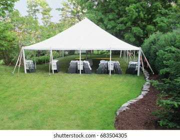 white events tent in the backyard