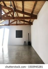 white exhibition hall interior design