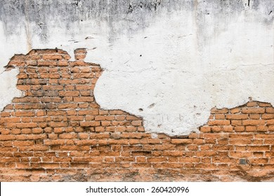 white exposed brick concrete wall.