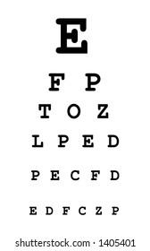white eye test chart