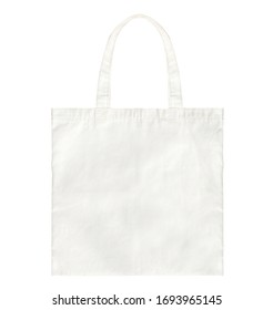White fabric bag isolated on white background. Cloth handbag for your design.