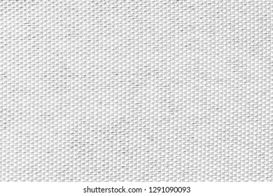 White fabric closeup structure pattern. Detailed canvas background.