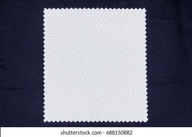 White fabric on black fabric
