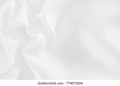 White fabric texture for background and design, beautiful pattern of silk or linen.