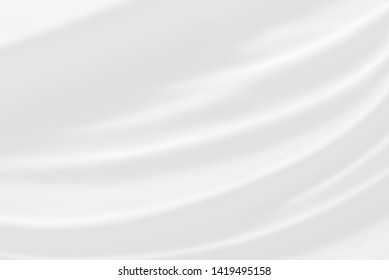 White fabric texture background. / Soft image.