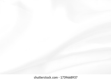 White fabric texture background. Soft waves.