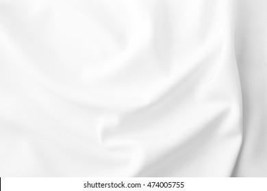 white fabric texture background ,wavy fabric