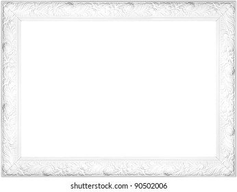 White fancy frame