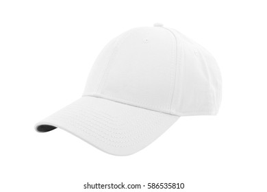 White fashion cap isolated on white background with clipping path.