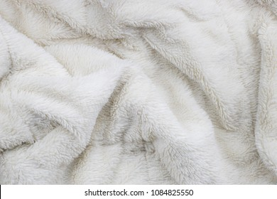 White faux fur blanket full frame