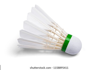 White Feather Shuttlecocks Badminton isolated on white