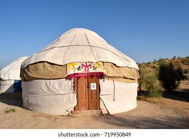 White felt yurt