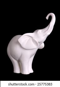 White figurine of an elephant