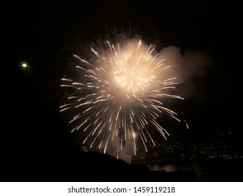 The white fireworks show the magic of the fire. The image features big bang born.