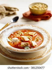 White fish and tomato soup