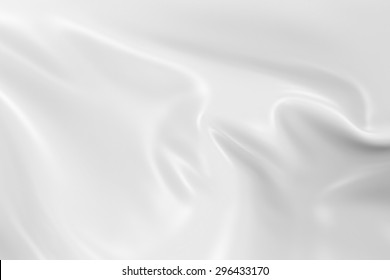 White Flag  - 3D Render with Silky Reflective Texture