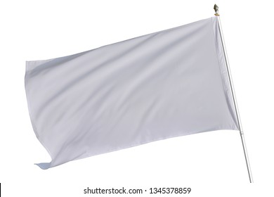 White flag isolated on white background. This has clipping path,