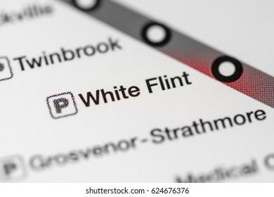 White Flint Station. Washington DC Metro map.