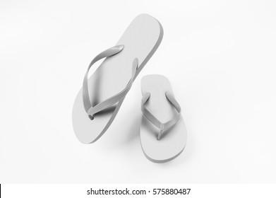 White Flip-Flops