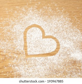 white flour and heart