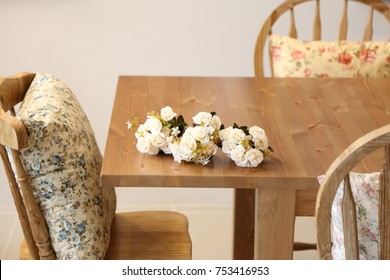 white flower on the table