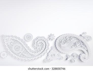 white flower pattern
