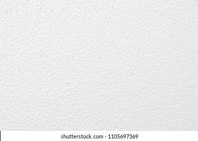 White foam board background, syrofoam ball close up texture use as background